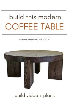 If you're in the market for a new modern coffee table, then check out this build from Woodshop Mike! With clean and simple lines, it's the perfect choice to modernize your living space. Watch the build video, then grab the plans to get started making your own! #woodworking #woodworkingplans #coffeetable #furniture #diyfurniture #handmade #handmadecoffeetable #oak #modernfurniture #moderncoffeetable #rusticcoffeetable #rusticfurniture #modernrustic #wood #qualityfurniture #livingroom #den