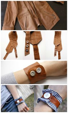 ReFab Diaries: Upcycle: Leather belts, purses and jackets!