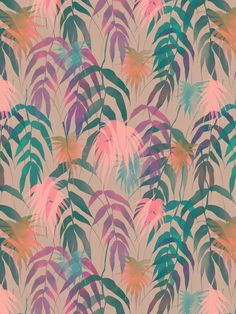 New Palm Beach - Spring Art Print by SchatziBrown #tropical #pattern