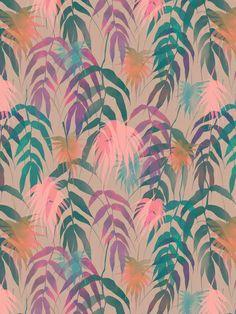 New Palm Beach - Spring Art Print by SchatziBrown #tropical #pattern