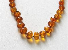 VINTAGE AMBER NECKLACE by allthingsvintage77 on Etsy