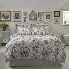 Buy Two Pack Cream & Black Floral Pillowcases at TK Maxx Dorm Bedding, Linen Bedding, Bed Linen, Window Bed, Window Seats, Single Duvet Cover, Shabby Chic Bedrooms, Tk Maxx, Cool Beds