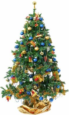 IMAGES POUR BLOGS ET FACEBOOK: Grands sapins de Noël décorés et scintillants
