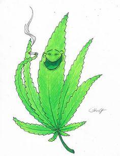 Hoja de #cannabis