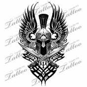 View Source  More Tribal Spartan Shoulderbicep Custom Tattoo Helmet