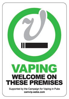 Vaping welcome on these premises...Check this list for ecig-friendly places and leave a comment with the places you know that are either vape-friendly or not.