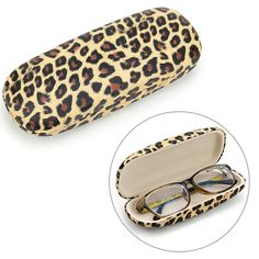 New Leopard Printed Eyeglasses Case Sunglasses Spectacle Box Glasses Protector #Unbranded