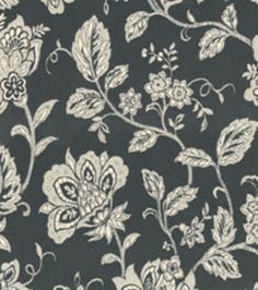 Home Decor Upholstery Fabrics-Waverly Cottage Vine Blackbird Fabric at Joann.com