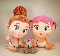 Fimo Disney, Polymer Clay Disney, Polymer Clay Figures, Polymer Clay Dolls, Polymer Clay Projects, Clay Crafts, Disney Charms, Chibi, Baby Girl Cakes