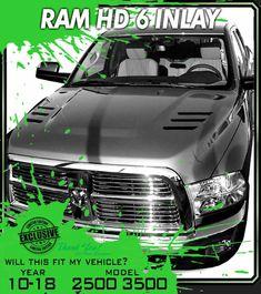 2002 /& up Dodge Ram RAM AIR Hood Spears Stripes Daytona SRT10 Racing Stripes 10