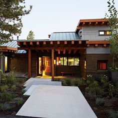 Sunset Idea House - modern - Exterior - San Francisco - Shades Of Green Landscape Architecture Timber Architecture, Architecture Design, Landscape Architecture, Contemporary Architecture, Modern Exterior, Exterior Design, Lake Tahoe Houses, Garden Design, House Design