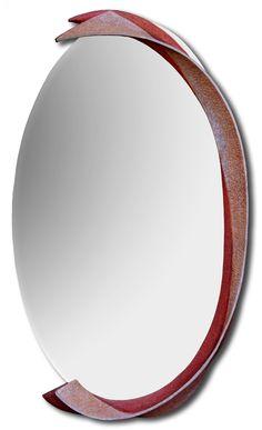 Zrcadlo Walz 2012, š: 50 x v: 120 cm, dřevo lipové, voskované. Možnost vyrobit variantu v podobných tvarech a jiných barvách.