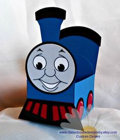 Thomas the Train Favor Box by DaisyDoodleDesignsby on Etsy