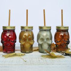 Sugar Skull Cocktail Glasses