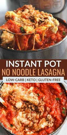Want a super-easy keto Instant Pot recipe? This keto Instant Pot lasagna is low in carbohydrates and a breeze to make in the pressure cooker. Healthy Low Carb Recipes, Clean Eating Recipes, Keto Recipes, Cooking Recipes, Keto Foods, Best Instant Pot Recipe, Instant Pot Dinner Recipes, Recipes Dinner, Instant Pot Pressure Cooker