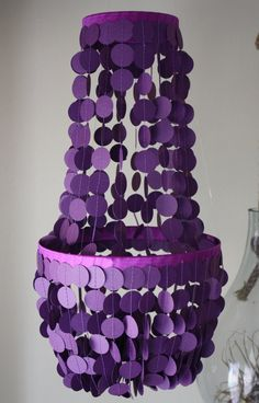 Choose your colors chandelier shape paper by PerpetualMotionDecor, $37.00