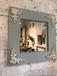 Items similar to Painted Cottage Chic Shabby French Farmhouse China Linen Cabinet on Etsy Painted Cottage, Shabby Cottage, Shabby Chic Homes, Cottage Chic, Shabby Chic Decor, Home Decor Bedroom, Diy Home Decor, Molduras Vintage, Handmade Mirrors