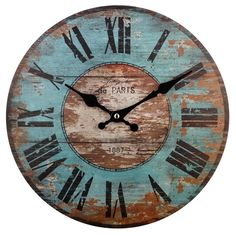 Hand-poured Soy Candle Paris Wall Clock at Joss and Main Paris Wall Clock at Joss and Main Likes, 148 Comments - Tamara Salvetti ( on Instagr. Big Clocks, Wood Clocks, Vintage Wall Clocks, Antique Clocks, Rustic Wall Clocks, Antique Wood, Large Clock, Pallet Clock, Decoration Christmas