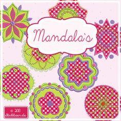 Der Stickbär | Mandalas