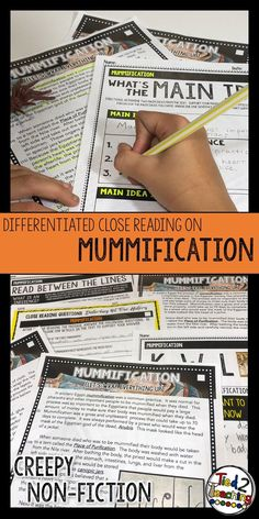 This Halloween Reading Passage on Mummification is a part of my Differentiated Close Reading Passage series. In addition to the differentiated Halloween reading passage, you will also receive an accompanying set of differentiated text dependent questions