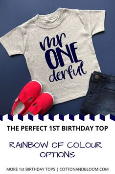 1st birthday party ideas, birthday tshirt 1st Birthday Shirts, Boy First Birthday, Boy Birthday Parties, Birthday Celebrations, Birthday Ideas, 1st Birthdays, Inspiration For Kids, Kids Outfits, Party Planning