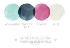 Refreshed Fuchsia   fresh hues brushstrokes