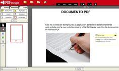 PDFescape es una potente utilidad web gratuita para editar documentos PDF o incluso crearlos desde cero. Integra múltiples herramientas para editar los PDF.