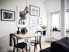 Luxury Scandinavian Interior Design - Page 28 of 35 Scandinavian Interior Design, Scandinavian Home, Small Apartments, Small Spaces, Minimalist Dining Room, Apartment Makeover, Best Dining, Small Dining, Dining Room Design