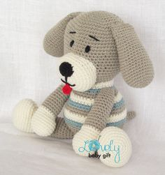 Amigurumi Crochet Pattern Puppy Dog Amigurumi door LovelyBabyGift