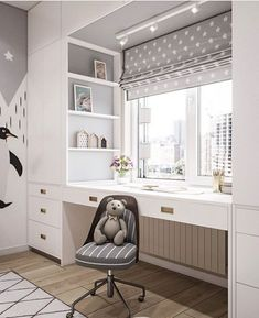 Kid Room Decor, Bedroom Interior, Girl Bedroom Designs, Home Office Design, Bedroom Design, Home Room Design, Bedroom Closet Design, Kids Bedroom Designs, Room Design