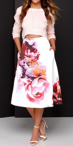 Bloom swing skirt