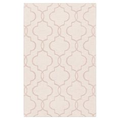 Hand-loomed wool rug with a trellis motif.   Product: Rug    Construction Material: 100% Wool   Color: