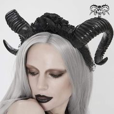 """Brand:EVA LADY Material:POLYETHYLENE Weight:0.18KG Size:One Size(Neck Circumference:18CM/7.1""""-29CM/11.4"""") Sku:EAS010 Horns, Women's Accessories, Gothic, Vintage Fashion, Punk, Lady, Design, Style, Swag"""