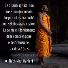 Zen Quotes, Wise Quotes, Spiritual Quotes, Buddha Life, Italian Quotes, Thich Nhat Hanh, Something To Remember, Life Philosophy, Dalai Lama