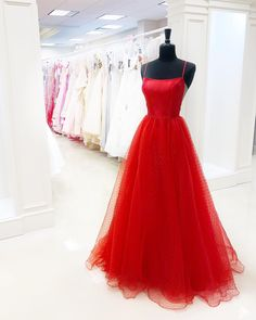 Fashion Red Tulle A-Line Prom Dresses,Spaghetti Straps Full Length Party Dresses · SexyPromDress · Online Store Powered by Storenvy A Line Prom Dresses, Tulle Prom Dress, Lace Evening Dresses, Homecoming Dresses, Sexy Dresses, Evening Gowns, Party Dresses, Formal Dresses, Glamorous Dresses