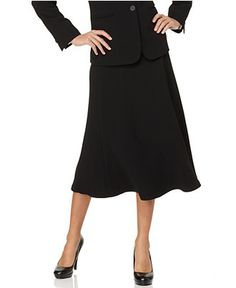 Jones New York Skirt, Flared - Skirts - Women - Macy's. Must be worn with black tights or pantyhose.