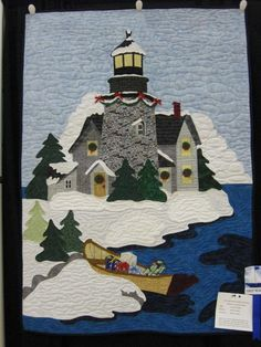 lighthouse at Christmas quilt