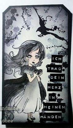 cbee's cards and more: Schwarzes Blut - a dark tag What A Wonderful World, Wonders Of The World, My Arts, Dark, Projects, Anime, Image, Cha Cha, Log Projects