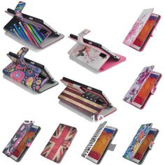 GRAFFITI STYLE LEATHER FLIP POUCH CASE COVER FOR SAMSUNG GALAXY NOTE 3 $7.78