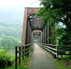 Loved biking the New River Trail (Virginia) in summer 2011.
