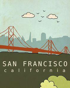 San Francisco California // Illustration Nursery by LisaBarbero