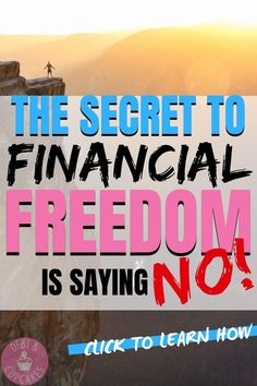 If you're trying to achieve financial freedom, save money or become debt free. You need to learn the art of saying NO. Stop overspending and breaking your budget to appease others. The ultimate. Ways To Save Money, Money Saving Tips, Money Tips, Saving Ideas, Savings Planner, Thing 1, Student Loan Debt, Financial Success, Financial Peace