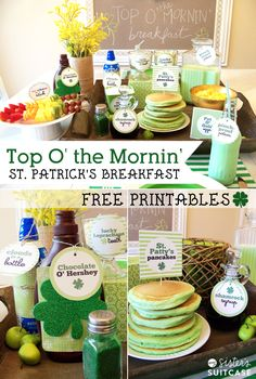 St Patrick's Day Breakfast Ideas! Your kids will love this fun breakfast idea.