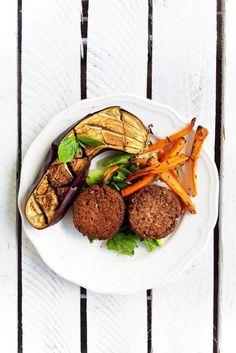 Buckwheat and black beans burgers - erVegan Black Bean Burgers, Buckwheat, Black Beans, I Love Food, Dairy Free, Gluten Free, Food To Make, Fit, Vegan Recipes