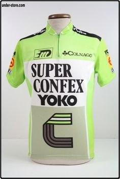 MAILLOT CYCLISME EQUIPE SUPER CONFEX 88 CYCLE rfFOOT427