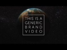 This Is a Generic Brand Video, by Dissolve - YouTube