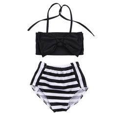b99bcce201bc8 2pc High Waisted Swim Suit Great for your little mini Black and white  colors Sweet+