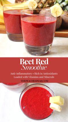 Antioxidant Smoothie, Beet Smoothie, Apple Smoothies, Smoothie Drinks, Healthy Smoothies, Green Smoothies, Smoothies With Beets, Apple Smoothie Recipes, Blackberry Smoothie
