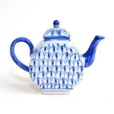 Vintage Miniature Porcelain Teapot: Lovely cobalt blue glaze! Cottage chic home decor. Available from OneRustyNail on Etsy. ► http://www.etsy.com/shop/OneRustyNail
