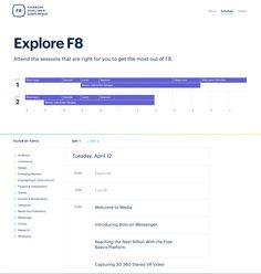 f8 facebook schedule page